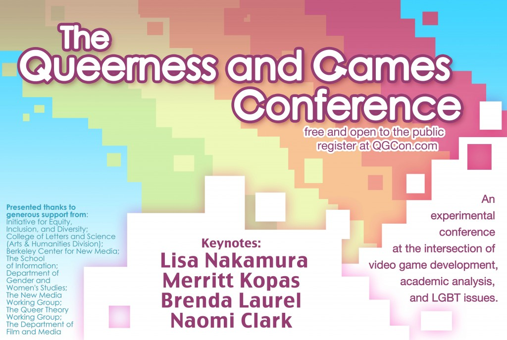 Queerness and Games Conference 2014 poster