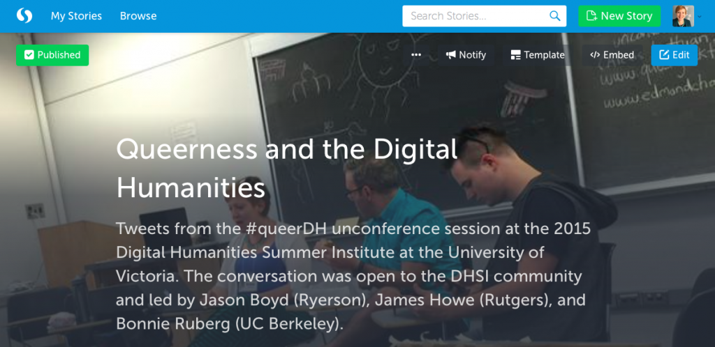 Ruberg Queer DH Storify